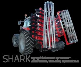 SHARK agregat talerzowy uprawowo-ścierniskowy składany hydraulicznie